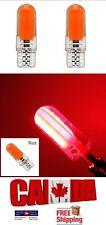 2x T10 194 168 Red LED COB 7W CAR CANBUS ERROR FREE Silica Silicone Light Bulbs