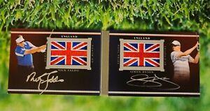 FALDO & DYSON 2013 UD Black Pride Of a Nation AUTO ENGLAND Flag Patch PN-FD /35