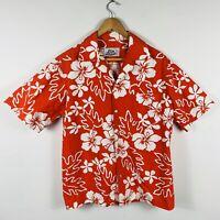 Hilo Hattie Mens Hawaiian Shirt Size Large Vintage Single Stitch Aloha Floral