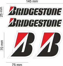 KIT 4 ADESIVI BRIGSTONE CON BORDO SCRITTA + LOGHI MOTO STICKERS SPONSOR COD56