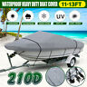 11-13FT Heavy Duty Trailerable Speedboat Boat Cover Waterproof For Fish Ski
