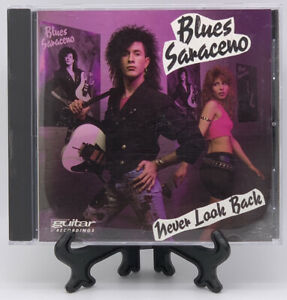 Never Look Back by Blues Saraceno CD 1989 Guitar Recordings Poison Rare HTF