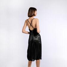 Sexy Women's Loose Dress Sling Sleepwear Skirt Home Casual Ladies Silk Pajamas