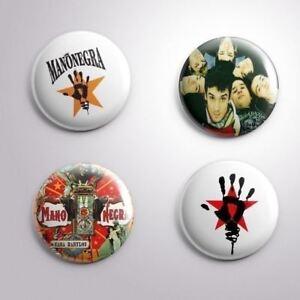 4 MANO NEGRA -  Pinbacks Badge Button 25mm 1''..