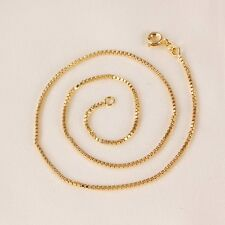 """9ct 9K Yellow """"Gold Filled"""" Baby Girls Children NECKLACE CHAIN. 13.78"""" Gift,2060"""