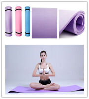 "BLUE 6mm Thick Non-Slip Yoga Mat Exercise Fitness Lose Weight 68""x24""x0.24""  rg"