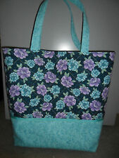 Handmade Knitting Project Craft Crochet Bag Large Tote Cotton