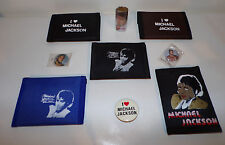 1980's Michael Jackson Collectible Wallets Lot Pinbacks Misc. Thriller