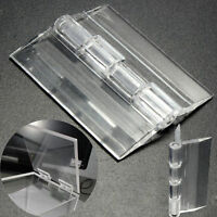 6pc Durable Clear Transparent Acrylic Plastic Perspex Box Piano Plexiglass hinge