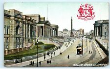 *William Brown St. Street Liverpool England Coat of Arms Vintage Postcard C84