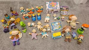 Huge Lot Of 90s Vintage Nickelodeon Rugrats Toys Casettes RARE Music Box BK
