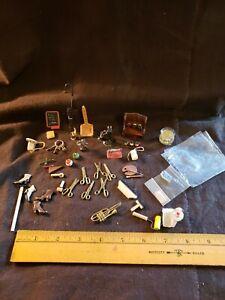 Vintage Dollhouse Miniature Accessories 40+ pieces of adorable!!!
