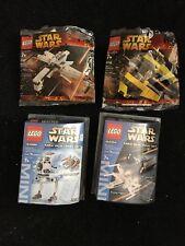 Lego Star Wars Mini Set Lot 4484 4486 6966 6967 X-wing Tie Advanced AT-ST Arc170