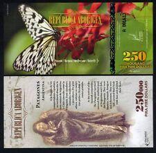 Republica Aborigen 250000 (250,000) Pira Pire $ POLYMER 2014, UNC > Butterfly