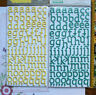 Letter & Number SUNNY Glitter THICKER Sticker 20-30mmHigh 2 Colour Choice L2L