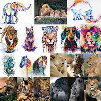 Wild Animals 5D DIY Full Drill Diamond Painting Cross Stitch Embroidery Decor