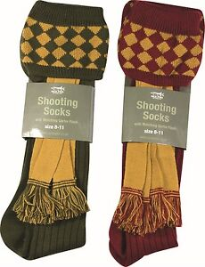 Extra Long Mélange Laine Harlequin Chasse Chaussettes Pause & Assorti Ensemble