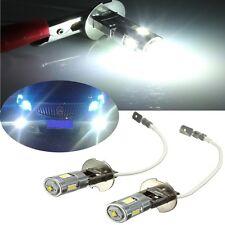 2x WHITE 7W H3 LED FOG LIGHT BULBS DRIVING DAYTIME DRL HEADLAMP PROJECTOR