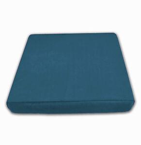 Mf24t Dusty Blue Thick Microfiber Velvet 3D Box Seat Cushion Cover Custom size