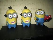 """3 RARE HTF COLLECTABLE MINIONS ACTION FIGURE'S LOT , """" SOLD AS IS """""""