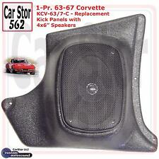 "Custom Autosound KCV-63/7-COM Kick Panels&4x6"" Speakers 63-67 Chevy Corvette"