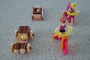 McDonalds Toys Flintstone Series, Early 1990's 4 toys