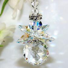 m/w Swarovski Crystal 8558 Ball Ab Head & Wings Chubby Guardian Angel Suncatcher