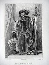 GRAVURE ANCIENNE 19e - PHILIPPE LE BON - DUC DE BOURGOGNE