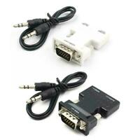 Female To VGA Male Converter With Audio Adapter Support HDMI Output Signal