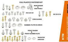 Schrauben Satz Verkleidung Plastik Satz Kit KTM alle SX + EXC XC - Bj. 2011-2014