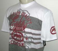 New Xl Ecko Unltd Mens T Shirt Tee White Gray Red Rhino Short Sleeve X-Large