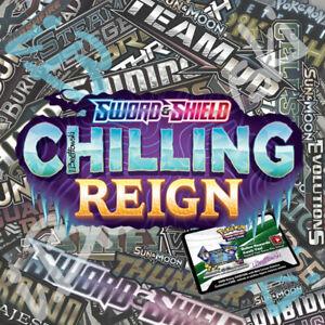 50x Pokémon Sword Shield Chilling Reign Online Booster Codes PTCGO Sent ASAP