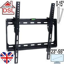 "Bargain Deal TV Wall Mount Bracket 23 - 55"" Tilt 15° Plasma LCD LED FLAT VESA UK"