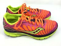 Saucony Kinvara 3 Women's Size 7 Athletic Running Shoes Neon Pink Orange Green