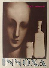 PUBLICITE LAIT INNOXA CREME DE BEAUTE SIGNE REGIS LEBRUN DE 1931 FRENCH AD