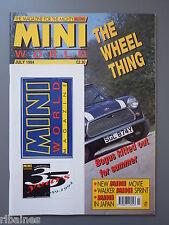 Mini World Magazine July 1994, FREE STICKERS, Cooper 1.3i Test/Somerford Minis