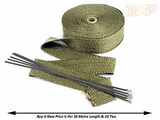 10M Of High Temp Titanium Exhaust Heat Wrap & 10 Ties Ford RS Cosworth ST Turbo