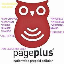 PAGE PLUS ACTIVATE, ESN CHANGE, SWAP, NUMBER CHANGE IPHONE 4,5,6,.. VERIZON ASAP