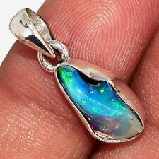 Ethiopian Opal Rough 925 Sterling Silver Pendant Jewelry AP176765
