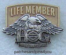 Harley Davidson HOG New Style Life Member Pin NEW! FREE U.K. POSTAGE!