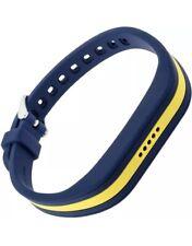 Blackweb Adjustable Fitbit Flex 2 Buckle Band Replacement Blue Yellow Stripe