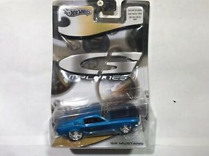 HOT WHEELS (2005) G-Machines '68 MUSTANG 1:50 Scale Very BLUE Ltd Edition