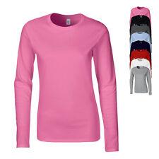 Gildan Damen T-Shirt SOFTSTYLE Langarm Rundhals S M L XL XXL Neu G64400L