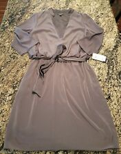 NEW Adrianna Papell Grey Prom Bridesmaid Formal Dress Sz 12 MSRP $120 Tie
