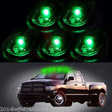 5Pcs SUV Pickup RV Cab Top Roof Running Marker Lamp Smoked Lens Green LED Lights