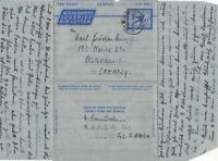South Africa 1954 Nigel Cancel Stamps Air Letter to Germany Ref 29304