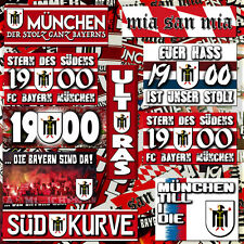 150 x Bayern Munich Stickers Ultra Style Unofficial based on Shirt Flag Scarf