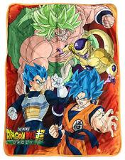 *Legit* Dragon Ball Super Broly Goku Vegeta Frieza Key Art Throw Blanket #76109