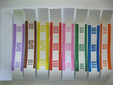 60 MIXED LOT OR SELECT YOUR OWN COMBO SELF-SEALING CURRENCY STRAPS/BANDS