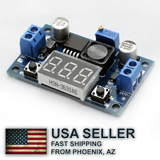 LM2596 LM2596S power module + LED Voltmeter DC-DC  - Fast shipping from AZ, USA
